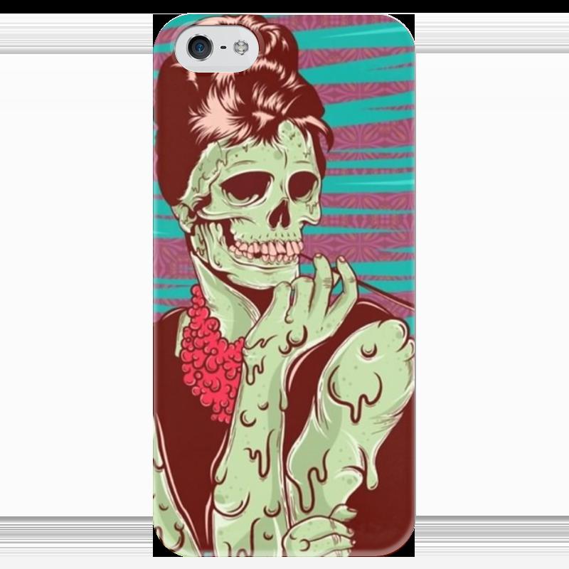 Чехол для iPhone 5 глянцевый, с полной запечаткой Printio Одри хепберн (зомби) женская сумка планшет с принтом черная коллекция elole design одри хепберн нат кожа