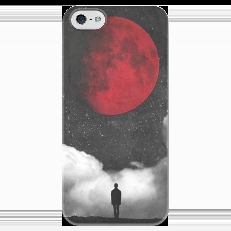 Чехол для iPhone 5 глянцевый, с полной запечаткой Printio кровавая луна крылья для старк луна