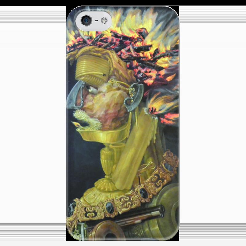 Чехол для iPhone 5 глянцевый, с полной запечаткой Printio Огонь (джузеппе арчимбольдо) вернер кригескорте джузеппе арчимбольдо
