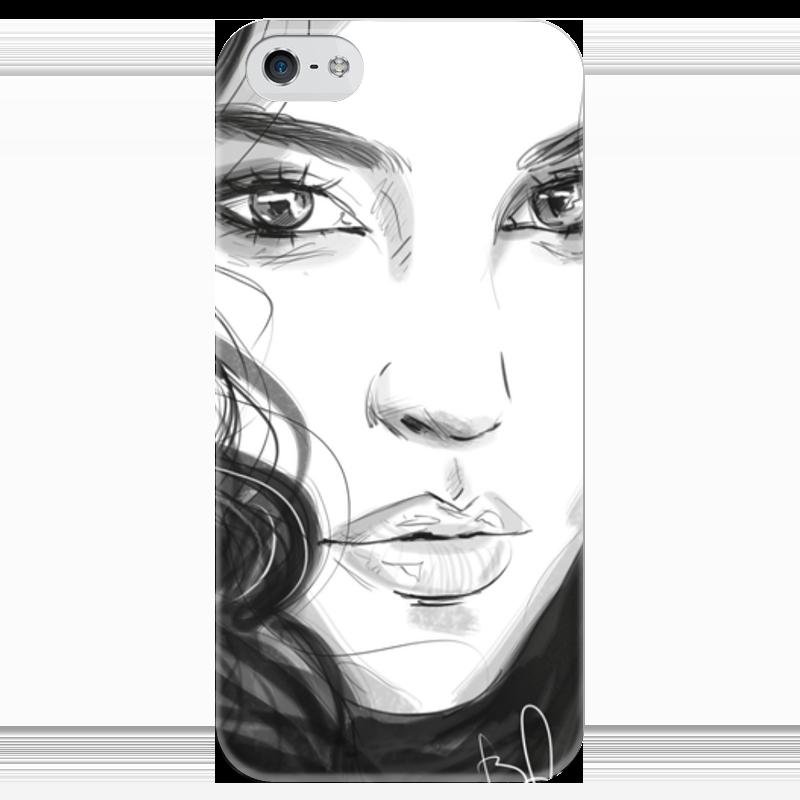 Чехол для iPhone 5 глянцевый, с полной запечаткой Printio Monika чехол для iphone 6 глянцевый printio портрет актрисы жанны самари ренуар