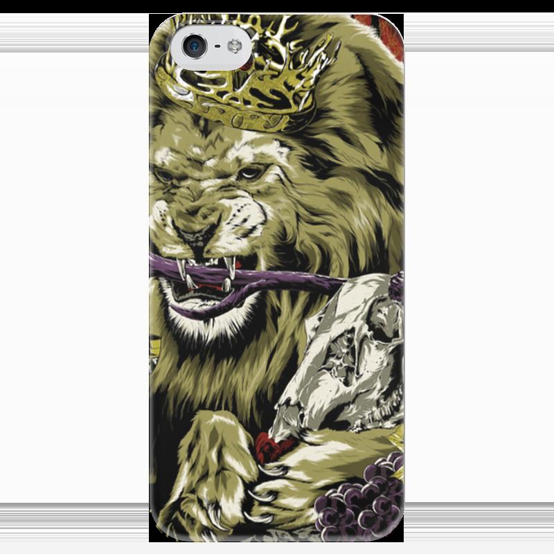 Чехол для iPhone 5 глянцевый, с полной запечаткой Printio Lion with skull чехол для iphone 4 глянцевый с полной запечаткой printio эфиопка