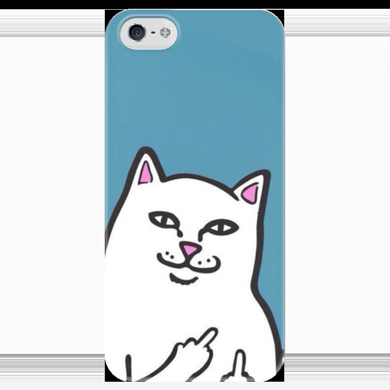 Чехол для iPhone 5 глянцевый, с полной запечаткой Printio Кот фак чехол для iphone 6 глянцевый printio кот бу