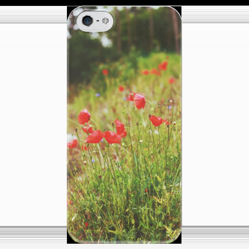 Чехол для iPhone 5 глянцевый, с полной запечаткой Printio Маки весной клатч маки