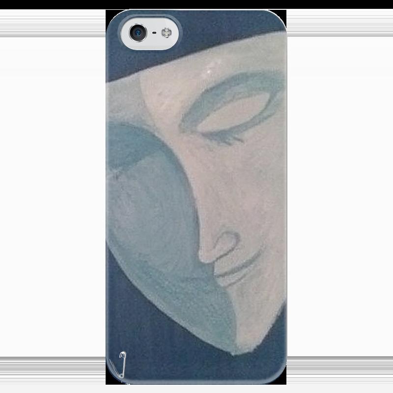 Чехол для iPhone 5 глянцевый, с полной запечаткой Printio Луна в маске дьявол в маске