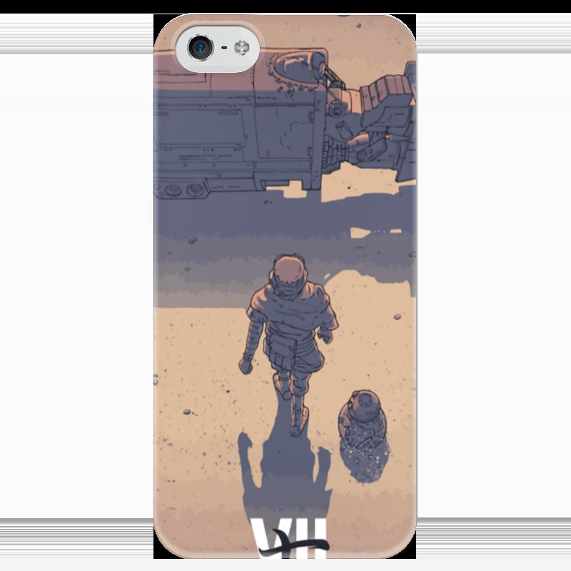 Чехол для iPhone 5 глянцевый, с полной запечаткой Printio Star wars / akira ray's speeder/ спидер рэй