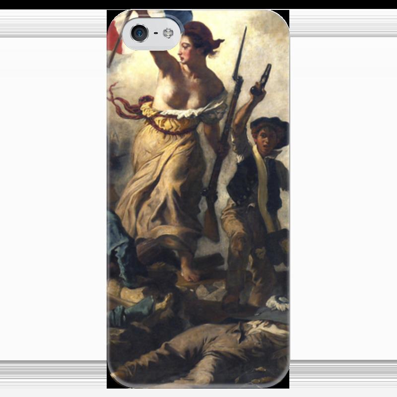 Чехол для iPhone 5 глянцевый, с полной запечаткой Printio Свобода, ведущая народ (эжен делакруа) свобода шампунь для детей с календулой disney baby свобода