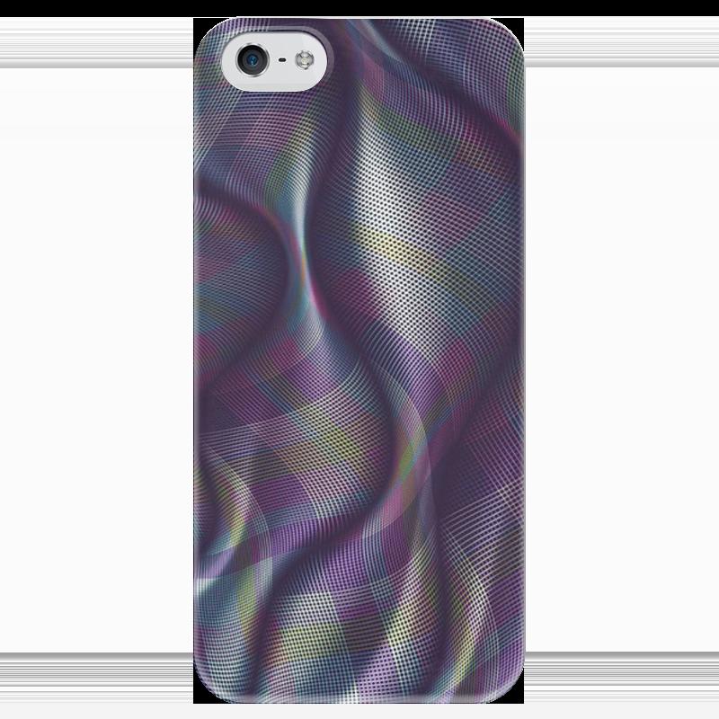 Чехол для iPhone 5 глянцевый, с полной запечаткой Printio Абстракция какой iphone лучше для россии
