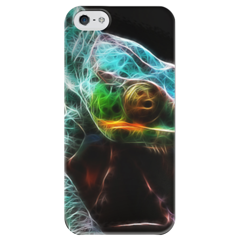 Чехол для iPhone 5 глянцевый, с полной запечаткой Printio Хамелеон чехол для карточек хамелеон с узорами дк2017 111