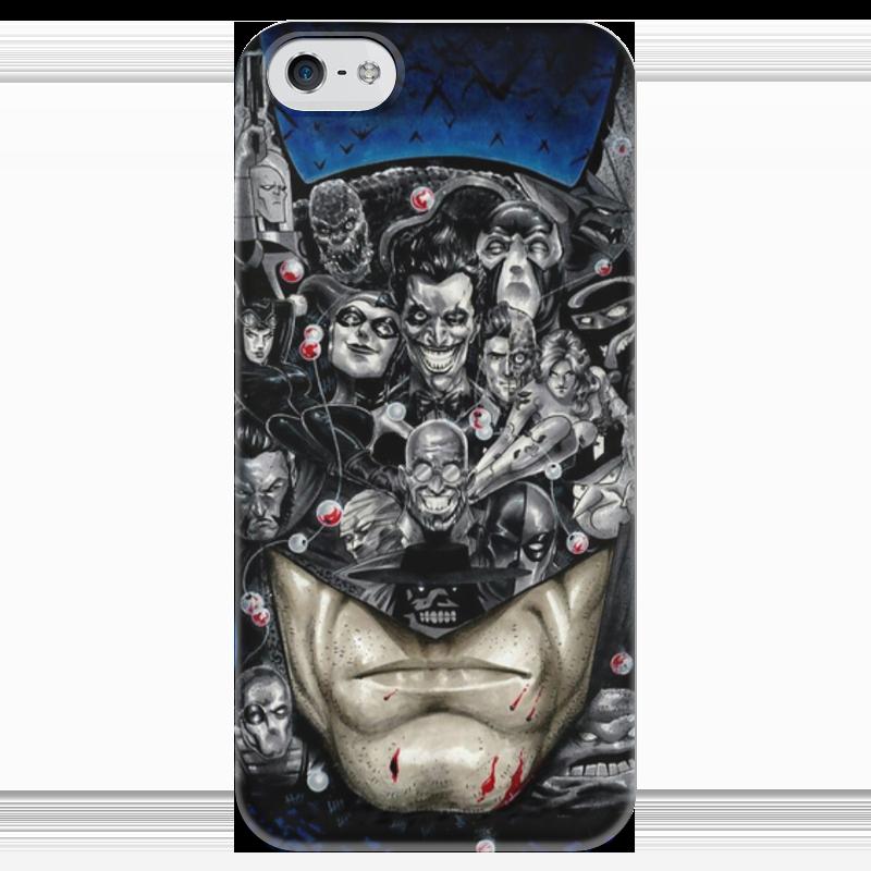 Чехол для iPhone 5 глянцевый, с полной запечаткой Printio Batman чехол для iphone 5 глянцевый с полной запечаткой printio иллид