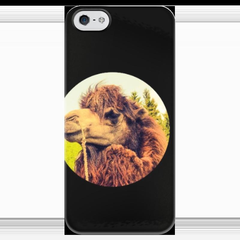 Чехол для iPhone 5 глянцевый, с полной запечаткой Printio Верблюд