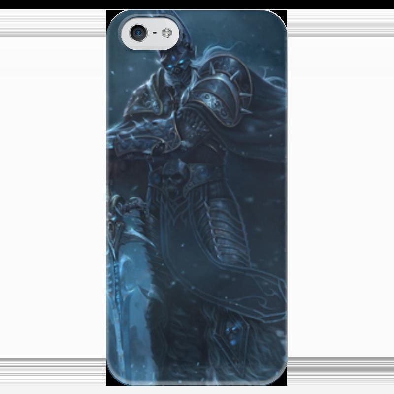 Чехол для iPhone 5 глянцевый, с полной запечаткой Printio Король лич чехол для iphone 5 глянцевый с полной запечаткой printio король лич