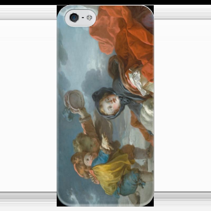 Чехол для iPhone 5 глянцевый, с полной запечаткой Printio Зима (картина фрагонара) чехол для iphone 5 глянцевый с полной запечаткой printio флаг пророка жан леон жером