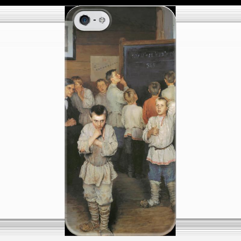 Чехол для iPhone 5 глянцевый, с полной запечаткой Printio Устный счёт. (богданов-бельский) семь смертных грехов 12 литографий н а богданова
