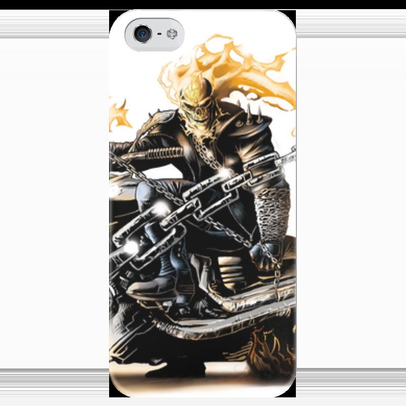 Чехол для iPhone 5 глянцевый, с полной запечаткой Printio Скелет чехол для iphone 4 глянцевый с полной запечаткой printio бэтмен