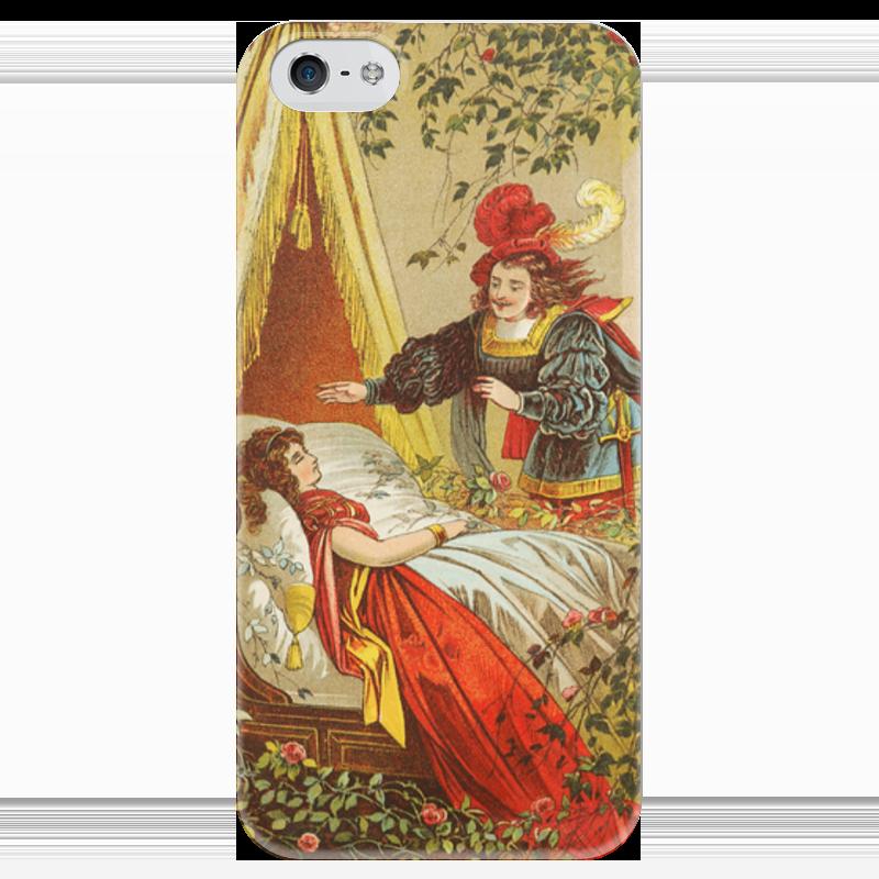 Чехол для iPhone 5 глянцевый, с полной запечаткой Printio Спящая красавица (сказка) футболка классическая printio спящая красавица