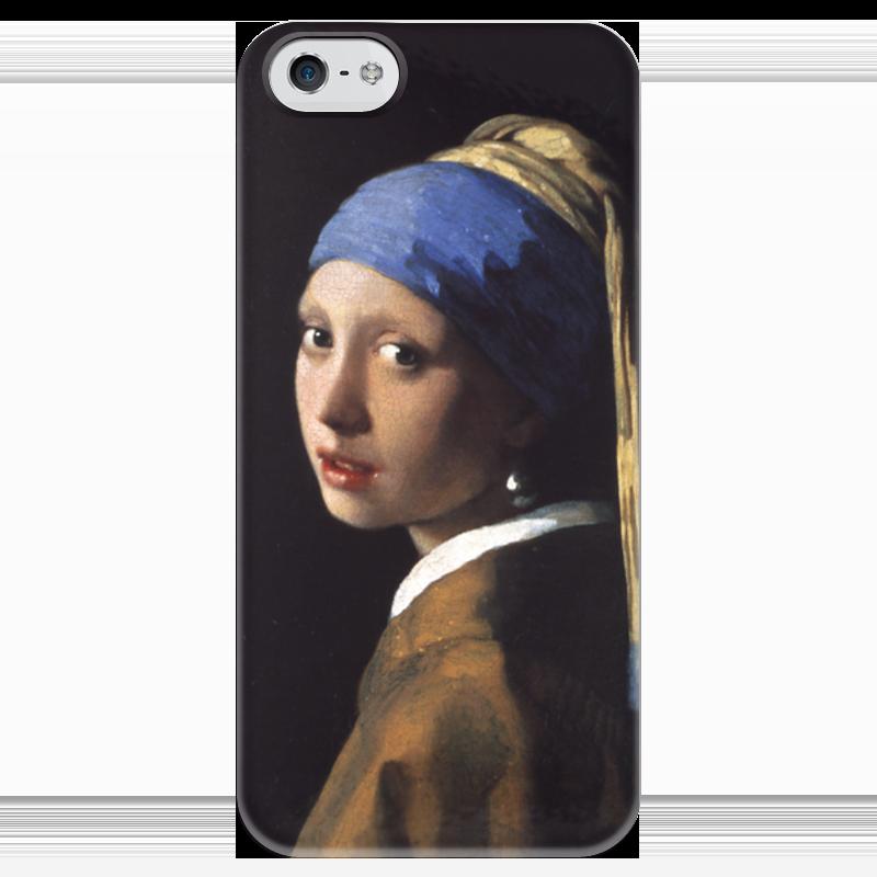 Чехол для iPhone 5 глянцевый, с полной запечаткой Printio Девушка с жемчужной серёжкой (ян вермеер) рюкзак с полной запечаткой printio девушка с жемчужной серёжкой ян вермеер