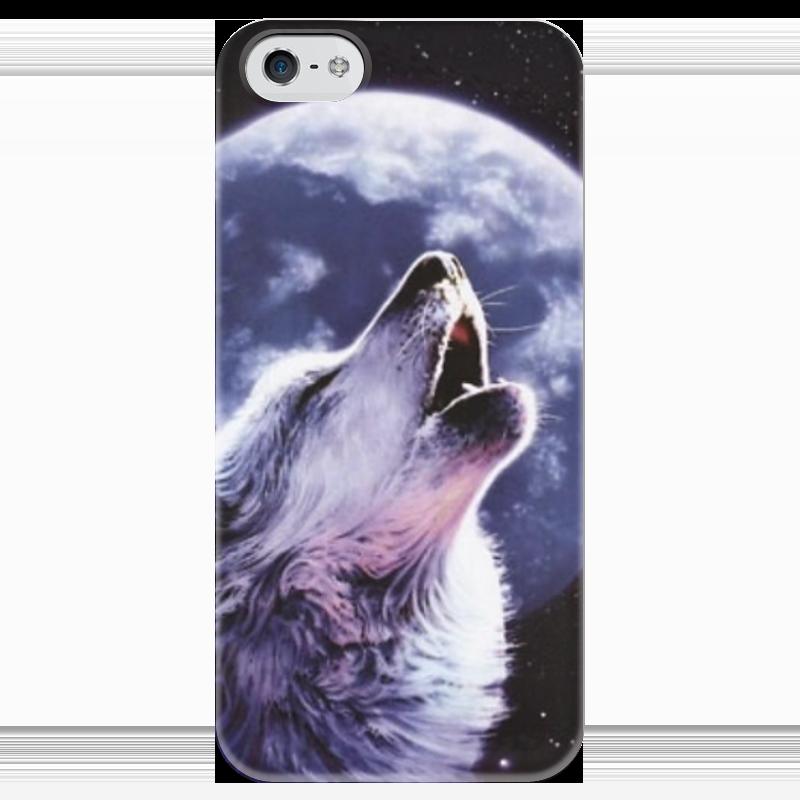 Чехол для iPhone 5 глянцевый, с полной запечаткой Printio Night wolf чехол для iphone 5 глянцевый с полной запечаткой printio wolf gang tyler the creator
