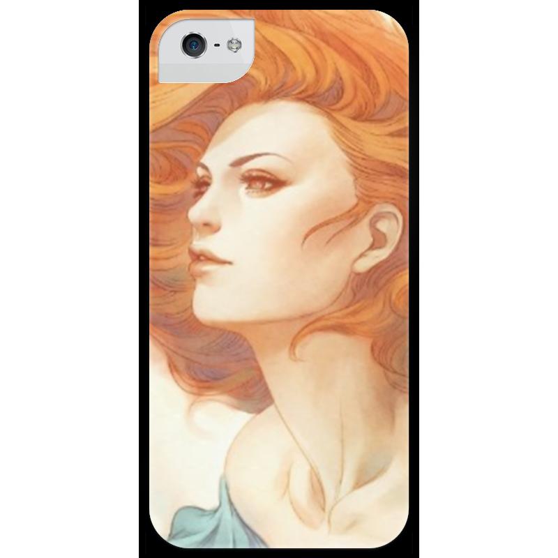 Чехол для iPhone 5 глянцевый, с полной запечаткой Printio Девушка чехол для iphone 4 глянцевый с полной запечаткой printio девушка