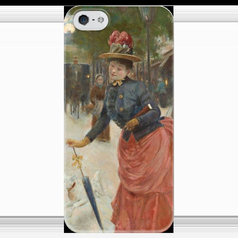 Чехол для iPhone 5 глянцевый, с полной запечаткой Printio Элегантная дама на бульваре (жан беро) салонный фильтр мазда демио dy3w