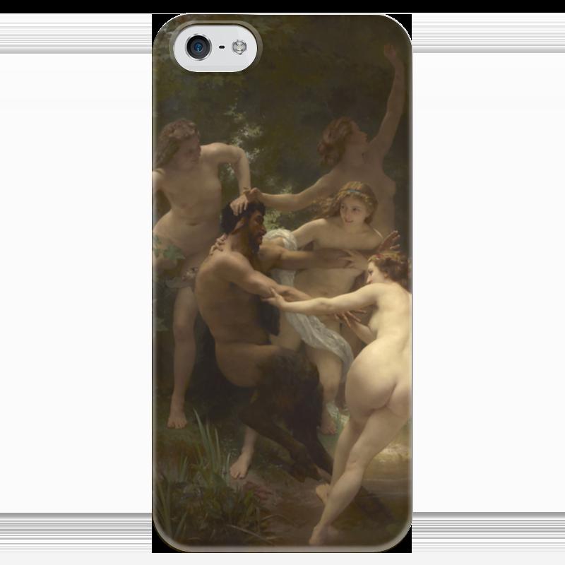 Чехол для iPhone 5 глянцевый, с полной запечаткой Printio Нимфы и сатир (вильям бугро)