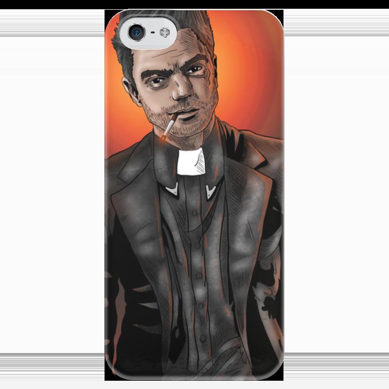 Чехол для iPhone 5 глянцевый, с полной запечаткой Printio Preacher чехол для iphone 5 глянцевый с полной запечаткой printio пилот