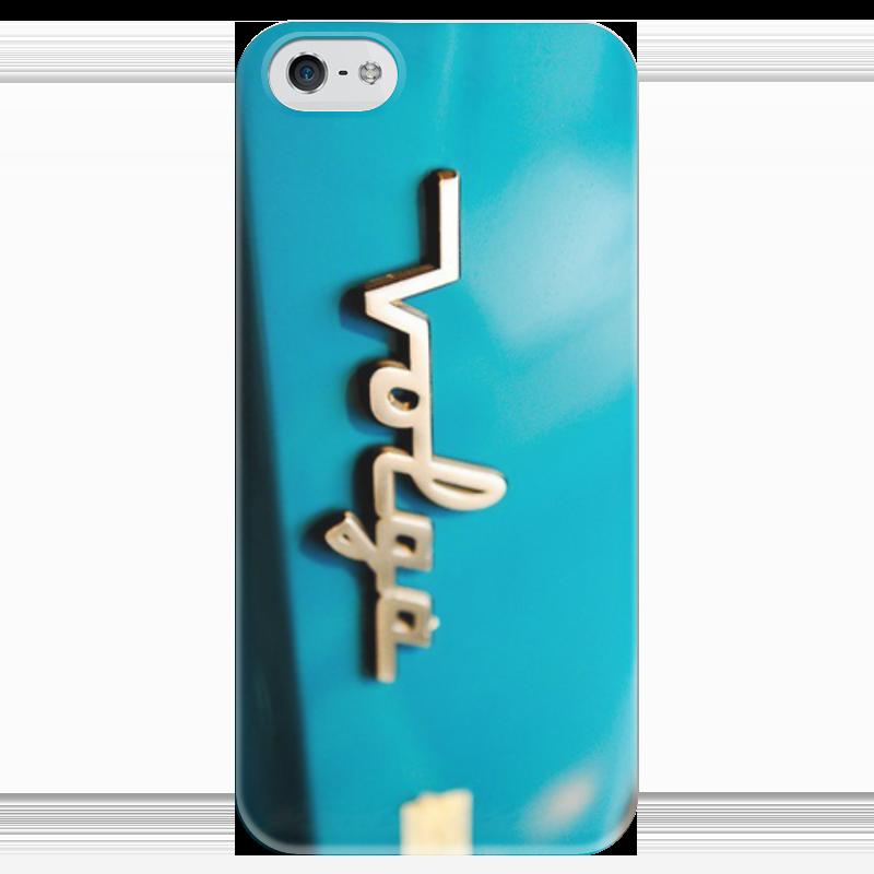 Чехол для iPhone 5 глянцевый, с полной запечаткой Printio Волга повторители поворота на зеркало волга