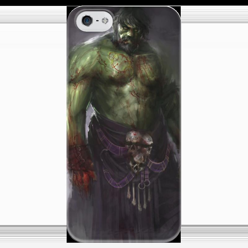Чехол для iPhone 5 глянцевый, с полной запечаткой Printio Халк (hulk) чехол для iphone 5 printio deadpool versus hulk