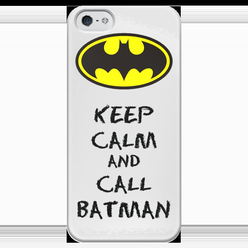 Чехол для iPhone 5 глянцевый, с полной запечаткой Printio Keep calm and call batman чехол для iphone 7 глянцевый printio keep calm and play rock
