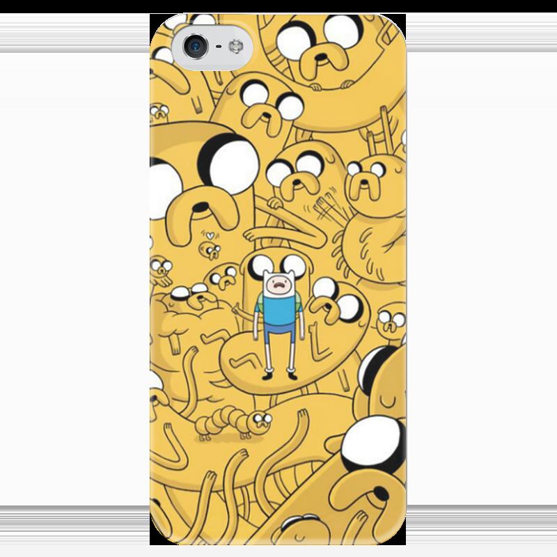 Чехол для iPhone 5 глянцевый, с полной запечаткой Printio Adventure time! finn and jake! чехол для iphone 6 глянцевый printio adventure time finn and jake
