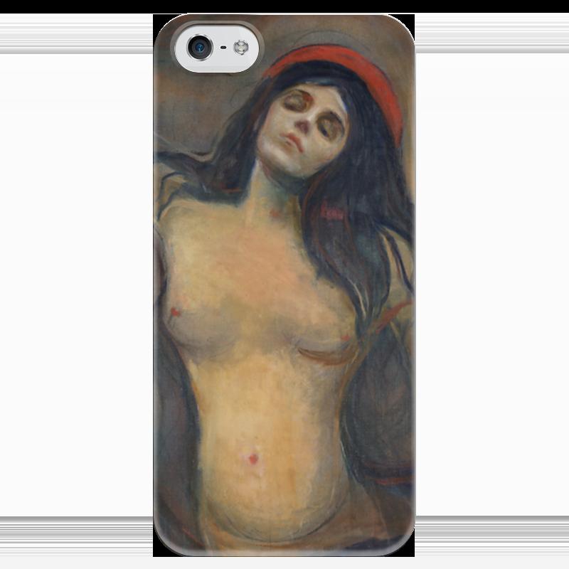 Чехол для iPhone 5 глянцевый, с полной запечаткой Printio Мадонна (картина мунка)