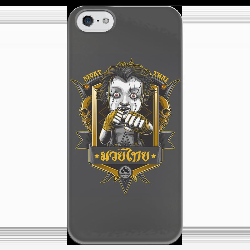 Чехол для iPhone 5 глянцевый, с полной запечаткой Printio Muay tai