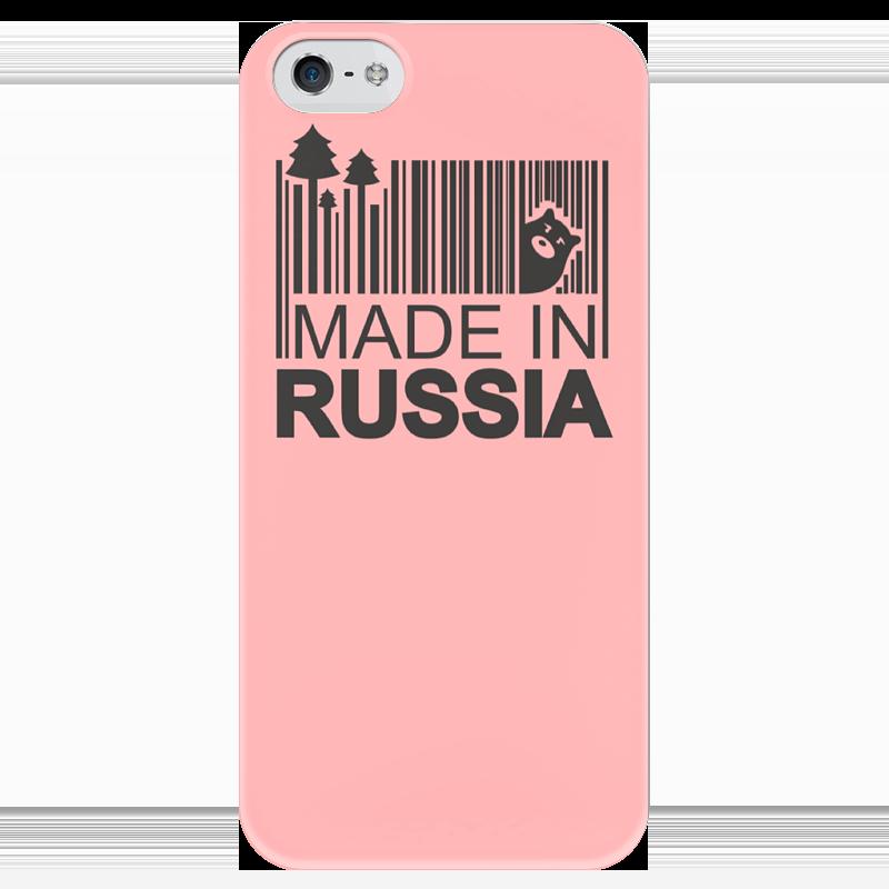 Чехол для iPhone 5 глянцевый, с полной запечаткой Printio Made in russia чехол для iphone 5 глянцевый с полной запечаткой printio fear and loathing in las vegas