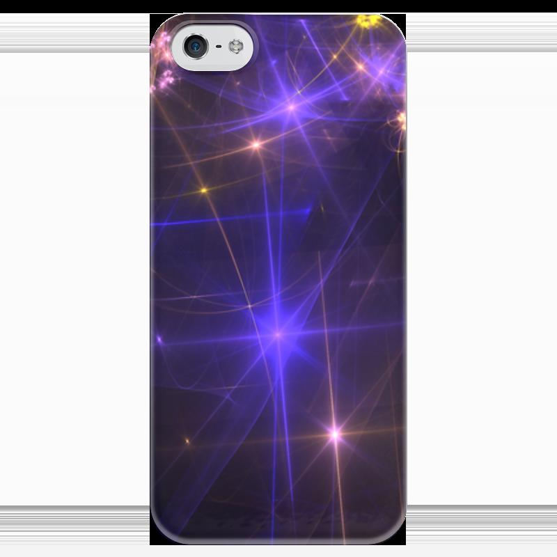 Чехол для iPhone 5 глянцевый, с полной запечаткой Printio Световая фантазия