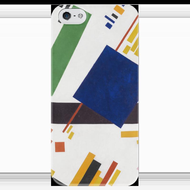 Чехол для iPhone 5 глянцевый, с полной запечаткой Printio Супрематическая композиция (казимир малевич)