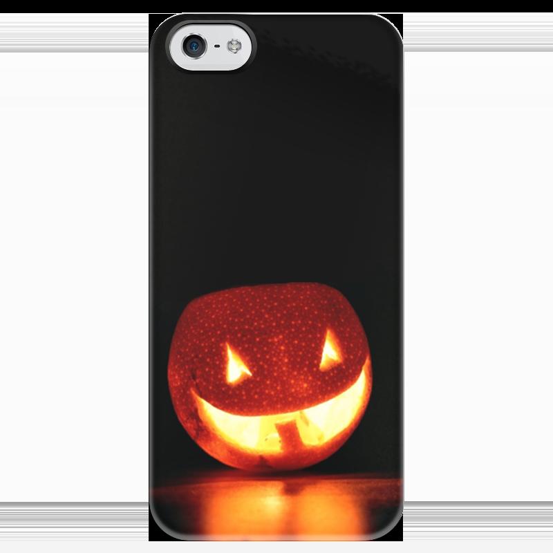Чехол для iPhone 5 глянцевый, с полной запечаткой Printio Halloween чехол