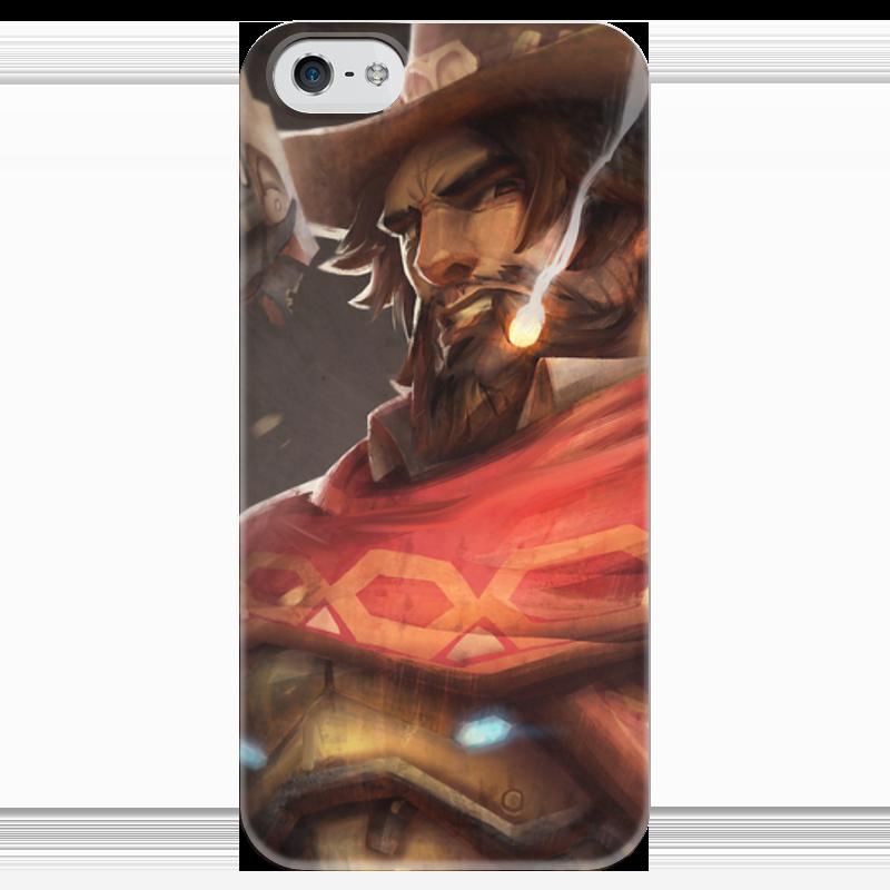 Чехол для iPhone 5 глянцевый, с полной запечаткой Printio Маккри чехол для iphone 5 глянцевый с полной запечаткой printio beardman case