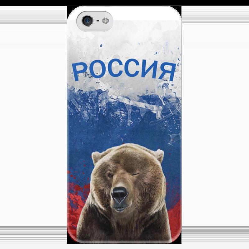 Чехол для iPhone 5 глянцевый, с полной запечаткой Printio Россия чехол