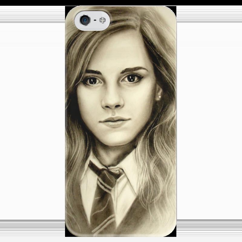 Чехол для iPhone 5 глянцевый, с полной запечаткой Printio Гермиона (эмма уотсон) эмма