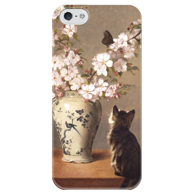 Чехол для iPhone 5 глянцевый, с полной запечаткой Printio Бабочка (джон генри дольф) генри майкан
