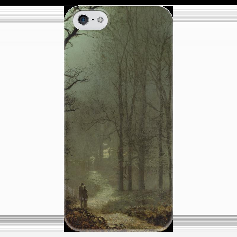 Чехол для iPhone 5 глянцевый, с полной запечаткой Printio Влюбленные в лесу (джон эткинсон гримшоу) чехол для iphone 5 глянцевый с полной запечаткой printio влюбленные пьер огюст ренуар