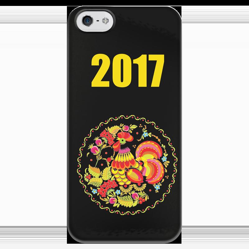 Чехол для iPhone 5 глянцевый, с полной запечаткой Printio 2017 - год красного петуха футболка с полной запечаткой мужская printio новый год красного петуха 2017