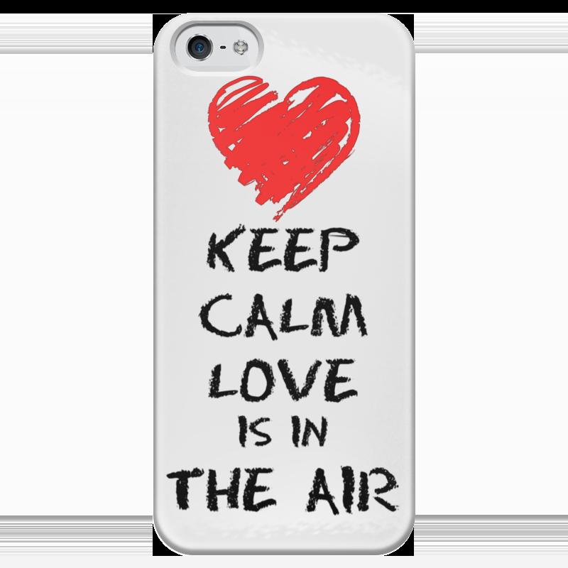 Чехол для iPhone 5 глянцевый, с полной запечаткой Printio Любовь / love is in the air чехол для iphone 5 глянцевый с полной запечаткой printio любовь