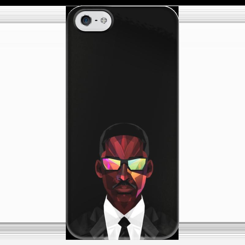 Чехол для iPhone 5 глянцевый, с полной запечаткой Printio Уилл смит (will smith) смит вессон 500 магнум