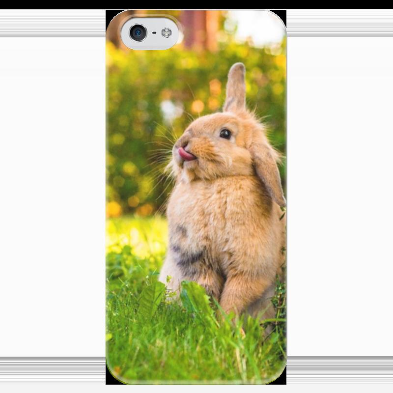Чехол для iPhone 5 глянцевый, с полной запечаткой Printio Кролик чехол для iphone 6 глянцевый printio кролик