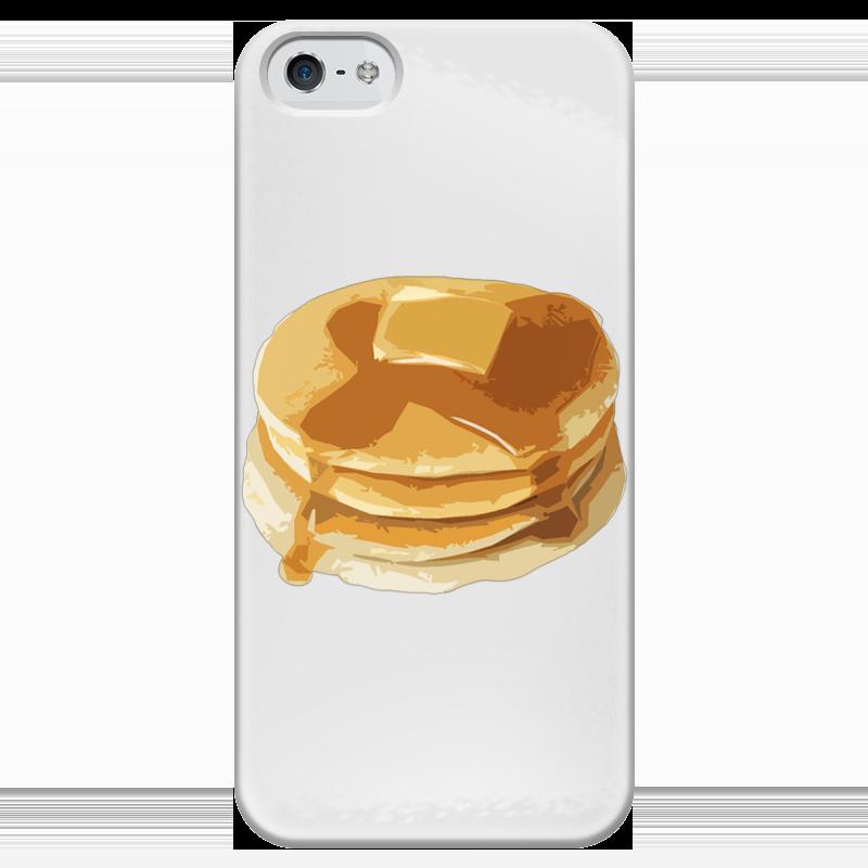 Чехол для iPhone 5 глянцевый, с полной запечаткой Printio Блины с маслом блины и блинчики