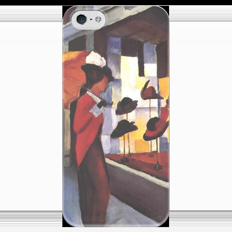 Чехол для iPhone 5 глянцевый, с полной запечаткой Printio Шляпный магазин (август маке) чехол для iphone 4 глянцевый с полной запечаткой printio шляпный магазин август маке