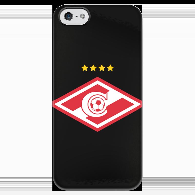 Чехол для iPhone 5 глянцевый, с полной запечаткой Printio Спартак чехол для iphone 5 глянцевый с полной запечаткой printio иллид