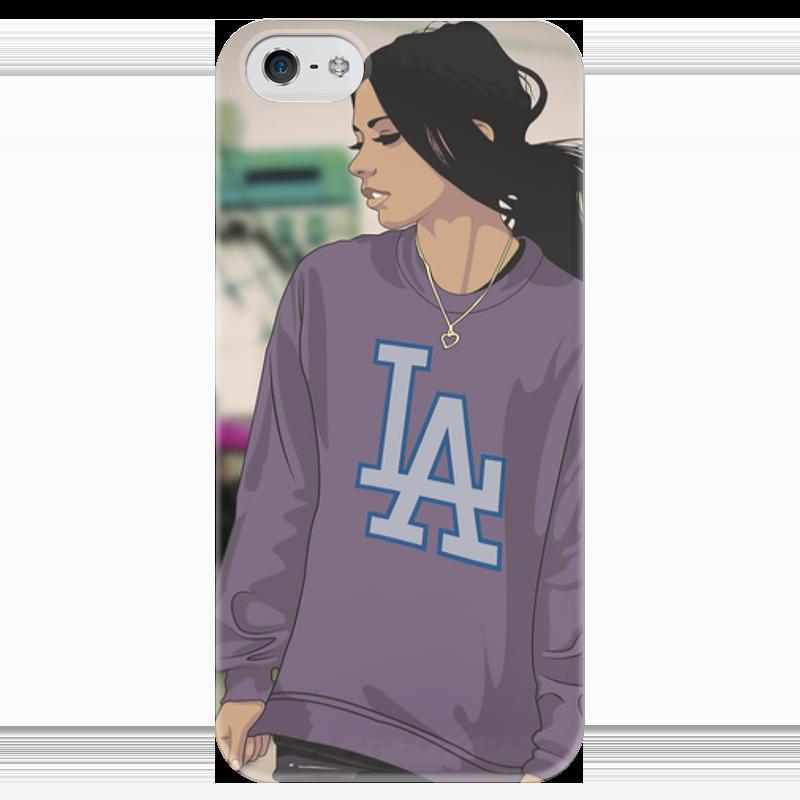 Чехол для iPhone 5 глянцевый, с полной запечаткой Printio Swaggirl чехол для iphone 4 глянцевый с полной запечаткой printio бэтмен