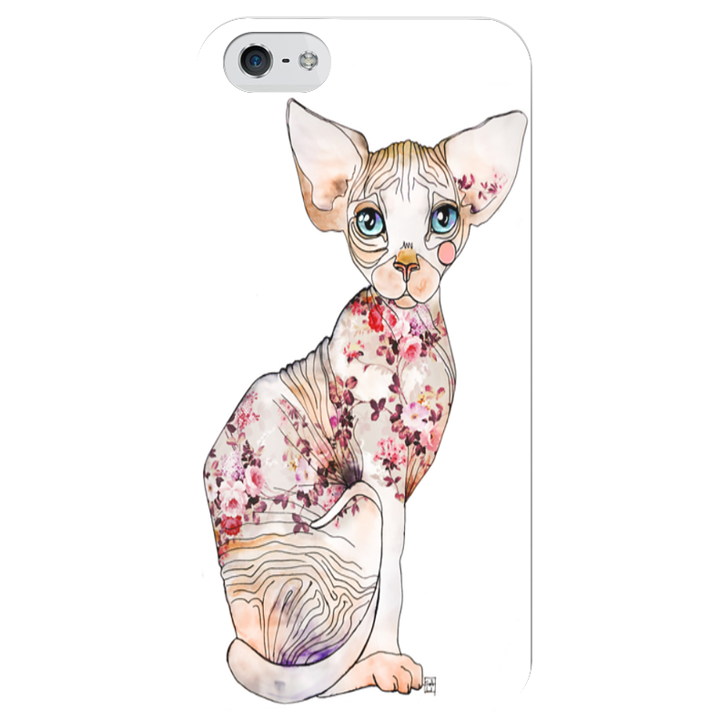 Чехол для iPhone 5 глянцевый, с полной запечаткой Printio Кот сфинкс чехол для iphone 6 глянцевый printio кот бу