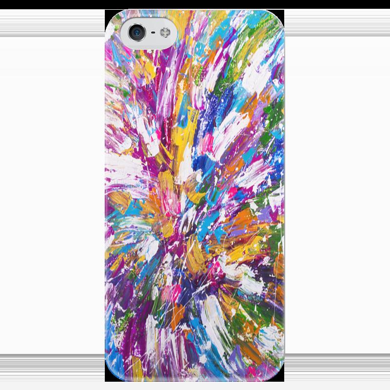 Чехол для iPhone 5 глянцевый, с полной запечаткой Printio Color_fier чехол для iphone 4 глянцевый с полной запечаткой printio эфиопка